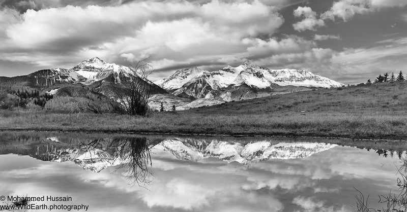 Reflection of Mount Wilson (14,246') and Wilson Peak (14,017'') - Lizard Head Pass, CO