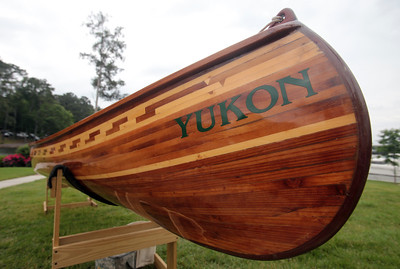 Yukon, a Kenosh model 16 foot canoe, was made by the White Salmon Boat Works. The hull was constructed of western red cedar, redwood and spruce, fiberglassed inside and out. (Not sure what that means)
