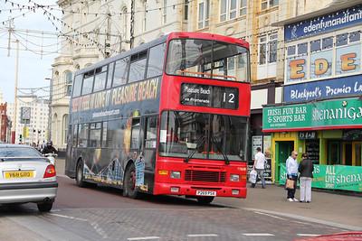 Classic Bus Blackpool P269PSX Promenade Blackpool 1 Sep 12