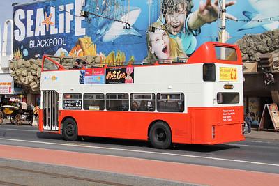 Classic Bus Blackpool DCA528X Promenade Blackpool 3 Sep 12