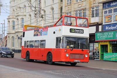 Classic Bus Blackpool DCA528X Promenade Blackpool 1 Sep 12