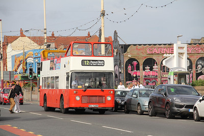 Classic Bus Blackpool DCA528X Pleasure Beach Blackpool 1 Sep 12