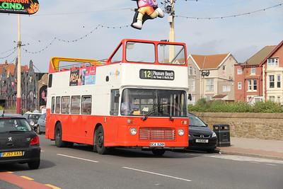 Classic Bus Blackpool DCA528X Pleasure Beach Blackpool 2 Sep 12