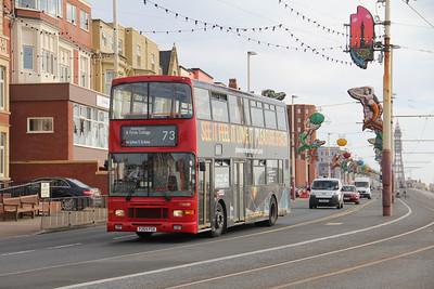 Classic Bus Blackpool P269PSX Promenade Blackpool 3 Sep 12