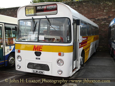 Midland Fox Marshall bodied Leyland Leopard 343, GJW 43 N was new to Midland Red & pictured wearing Midland Express livery.