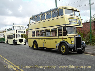 1951 Leyland PD2/1 with Metrol Cammell body. Wallsey Corporation Motors - #54.