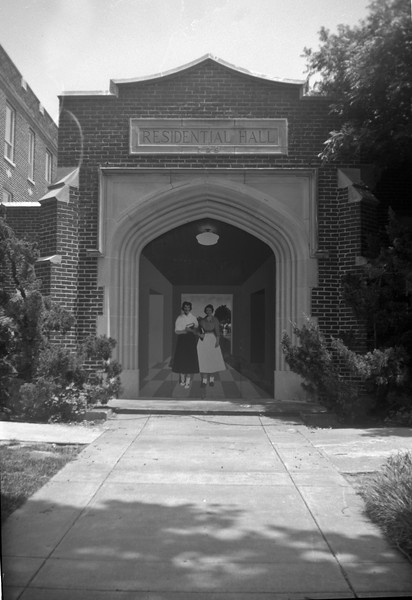 Mural on old residence hall.