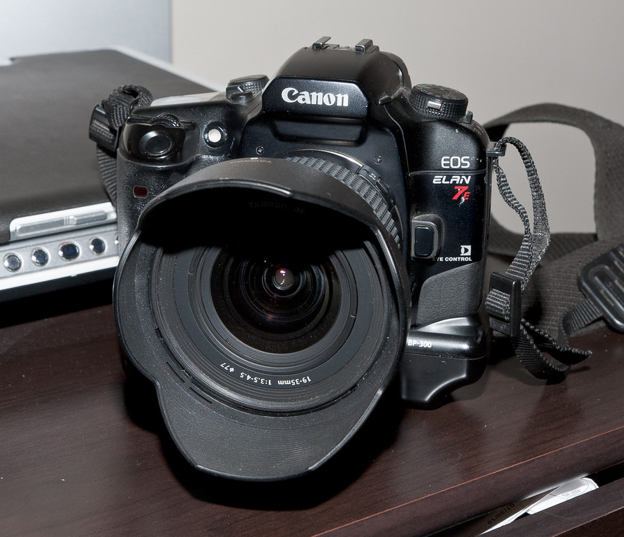 "I don't think anyone would call the Elan 7e a ""Classic Camera"", being only 20 years old and being an auto-focus SLR.  But its my site so I'm listing it here anyway.  Shown here with an old Tamron 19-35mm ultra-wide angle lens."