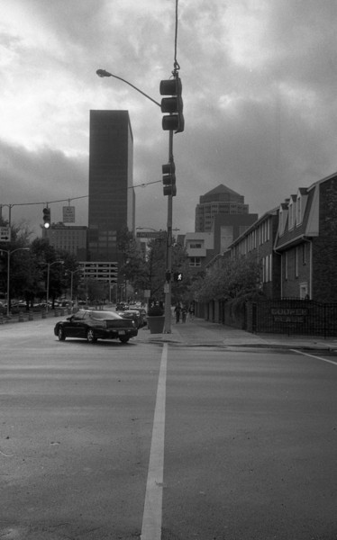 Downtown Dayton, Ohio.  Most of these were shot using the Jupiter-12, the rest with the collapsible Industar-50 (50mm) lens.