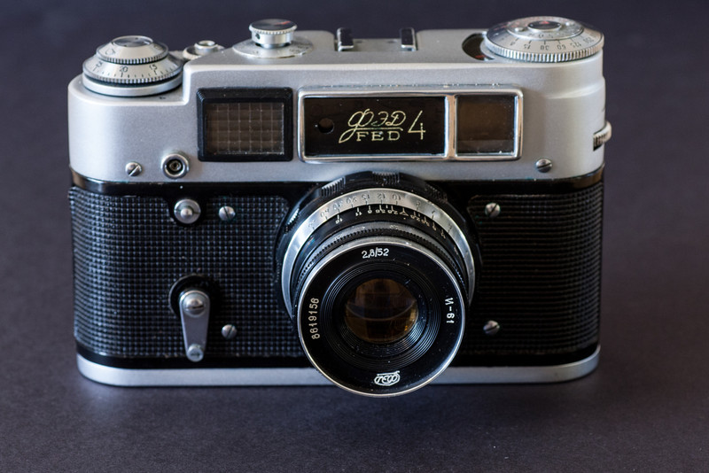 """I've always been interested in Soviet cameras, for one thing I can actually afford them.  But not once have I been tempted by the Fed 4.  Manufactured from 1969-1976, the Fed 4 is significantly larger than the earlier Fed 1s and Fed 2s.  The built-in selenium light meter does little to add to the cameras looks, making it one of the ugliest cameras produced by the FSU.  So when I saw this example at a camera show earlier this year, I had no intention of buying it, for one thing it was priced at the outrageous price of $75.  The only reason I picked it up was out of curiosity, I then set it back down and started to walk away.  It was at this point that the dealer shouted out """"Today only, $30!"""".  This is why I now own a Fed 4."""