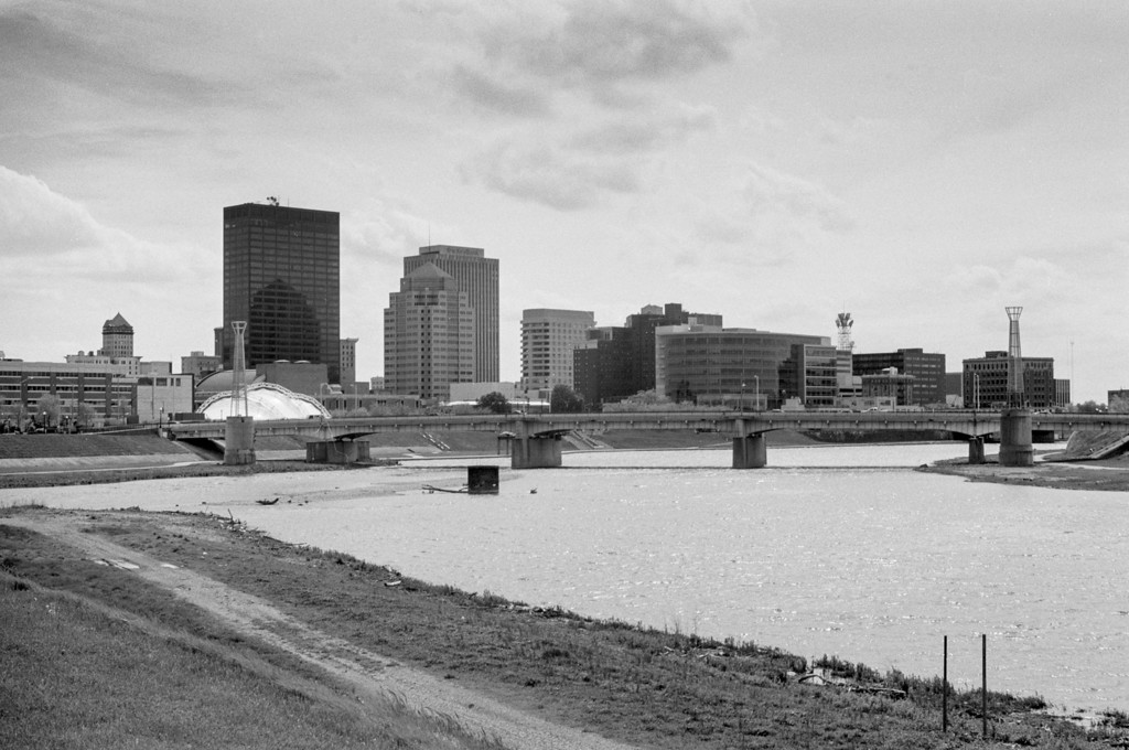Dayton Skyline as seen from Deed's park with Kettering Tower towards the left of the image.