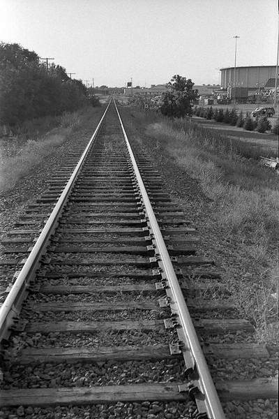 And finally finishing the roll as we crossed the train tracks back to the parking lot.<br /> <br /> September 2009<br /> Tri-X in F76+