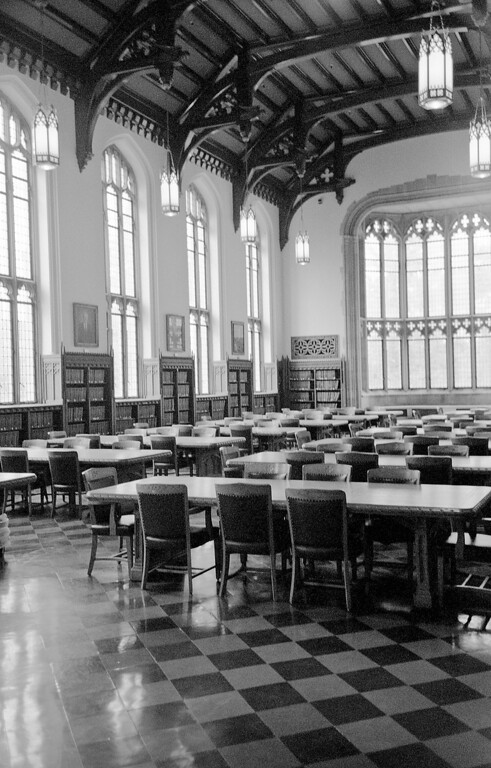 The great reading room in Bizzell Library.  Every thesis and dissertation written by OU students are stored here.