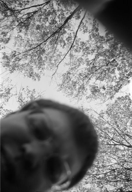 Here I am moments before realizing that instead of adjusting the aperture I've hit the shutter release instead <br /> <br /> October 2009<br /> Neopan acros in Rodinal 1+50