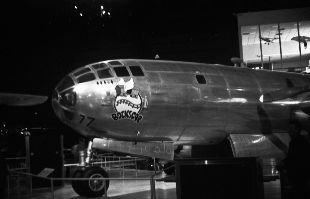The B-29 Bockscar is the plane that dropped the second atomic bomb on Nagasaki at the end of WWII
