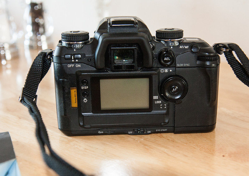 One notable feature of the Maxxum 7 was that it was one of the first film SLR's to be built with an LCD screen on the back which displayed relevant camera settings.