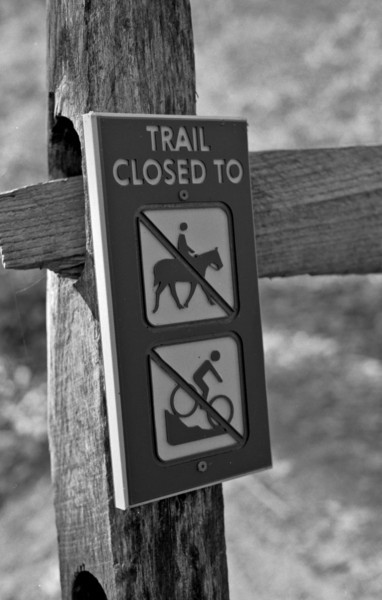The park has a number of trails going through it, including horse trails, although they understandably want to keep them separated.