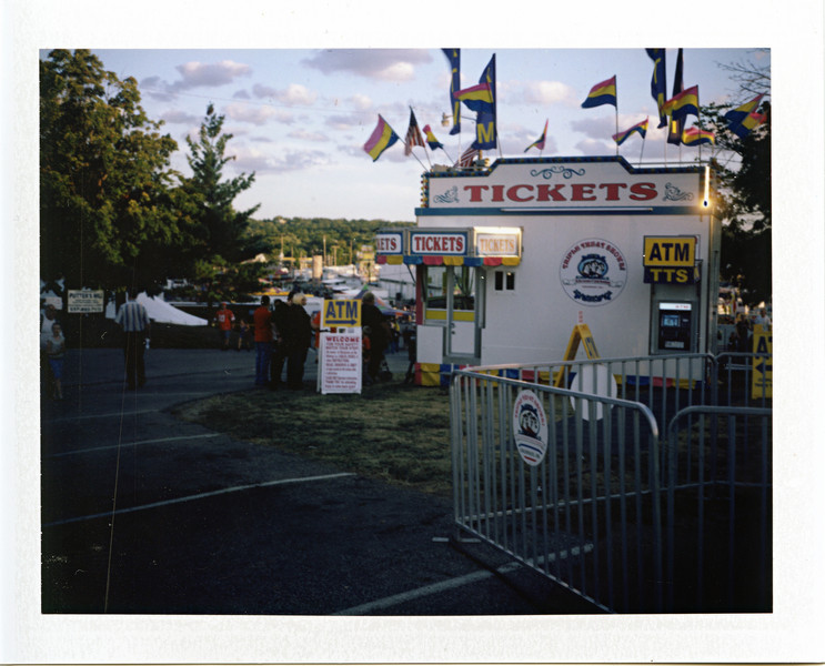 I took the camera to the Montgomery County fair in Dayton Ohio to try out.  I've never used a Polaroid before, and I can see how they can be addicting.  The film is expensive though, about $11 for a ten shot pack.