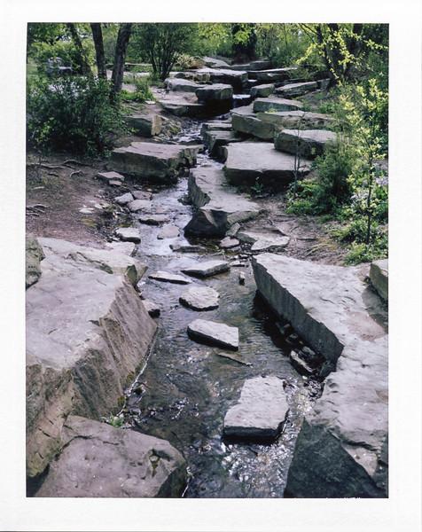 Creek at Cox Arboretum with my Polaroid 250