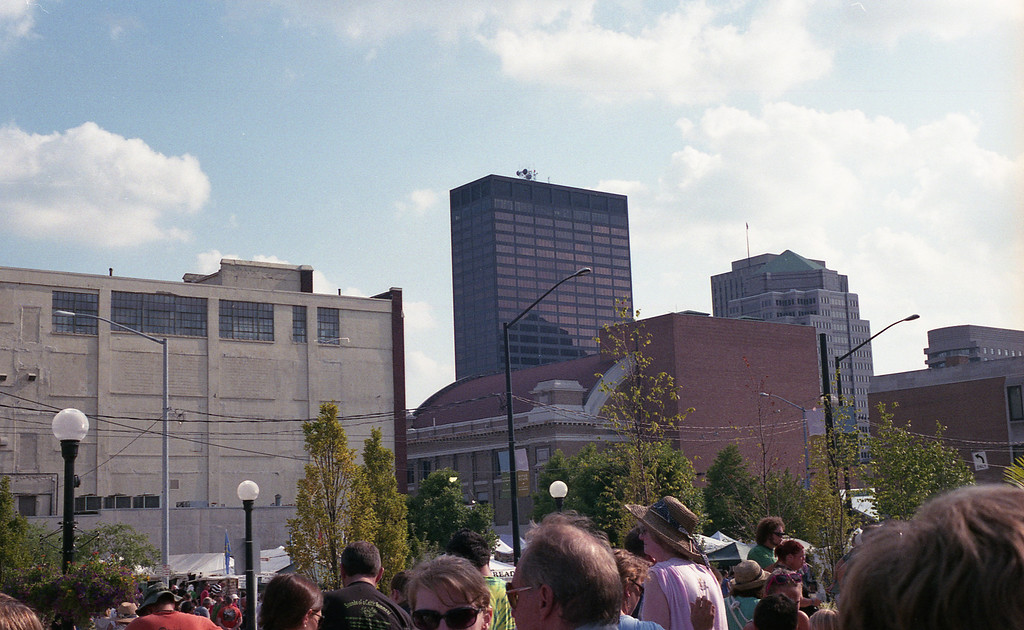 Part of downtown Dayton Ohio<br /> <br /> Summer 2011<br /> Fuji Superia 400