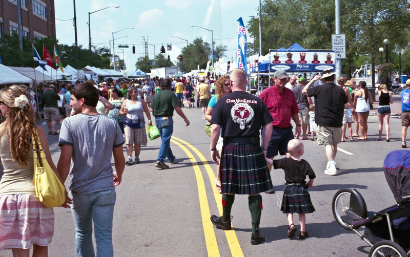 I took the camera to the 2011 Dayton Celtic Festival which is held downtown along the river.  Rangefinders have long been a favorite of street photographers due to their small, unobtrusive size.  The Retina series are probably the quietest cameras I've ever used, in a crowded location such as this the camera is essentially silent.