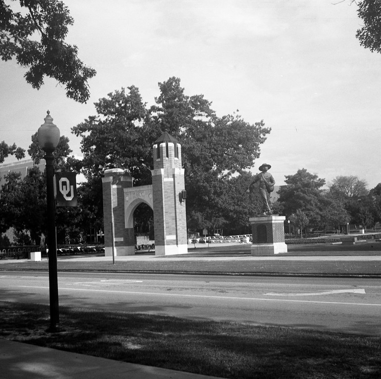 More pictures at the University of Oklahoma.  Shot on expired ilford FP4+, developed in Clayton F76+