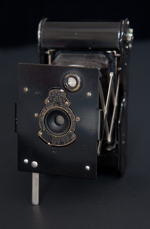Another of Kodak's early successes was the the Vest Pocket Kodak, manufactured between 1915-1926.  This example is the autographic model.