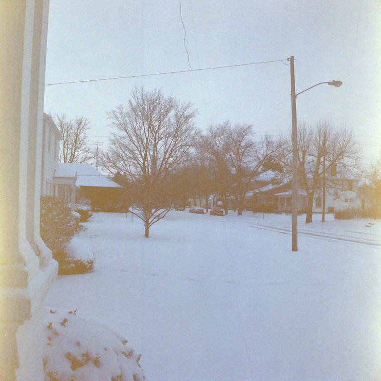 ...the middle of winter.  Everyone used to do it, shoot half a roll of film, then pick the camera up months later and finish it off.