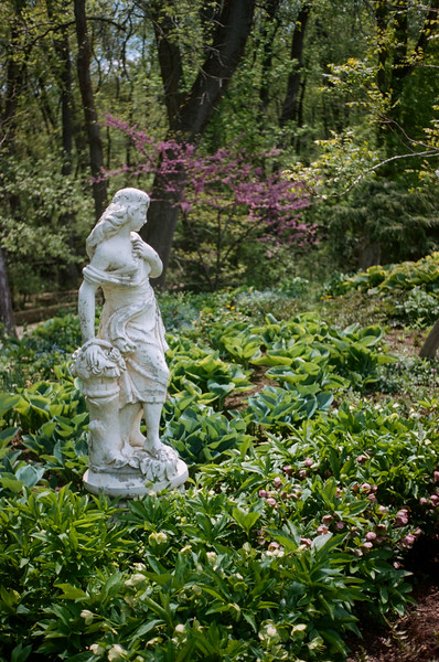 I've always found this statue to be particularly peaceful.  it stands alone at the edge of the park and is easy to miss as it isn't surrounded by the more dramatic flowers of the gardens.