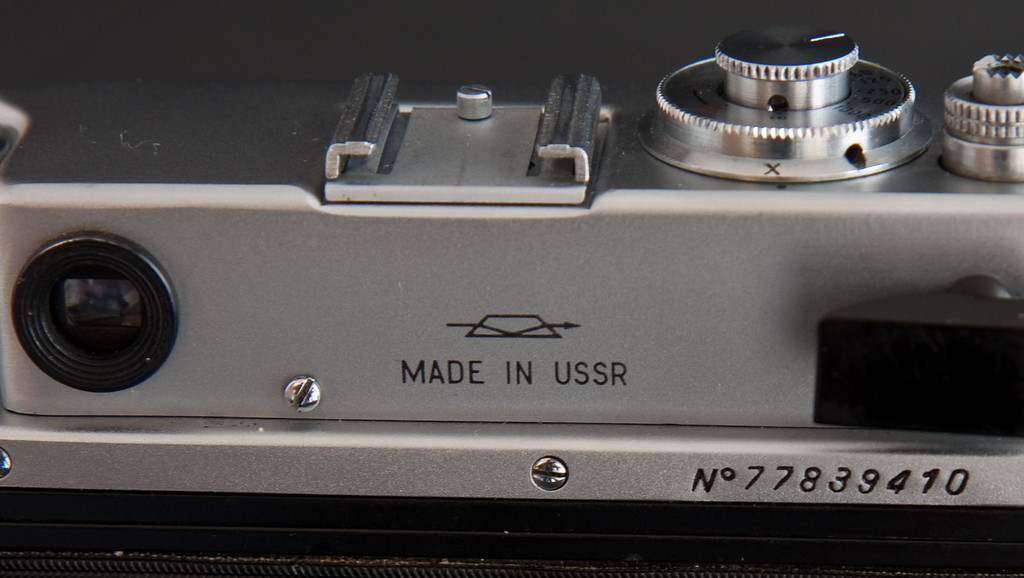The Zorki 4k was produced primary for export, as all the writing on this version is in English.  One little nice thing about Russian cameras is that on most of them the first two numbers of the serial number indicate the year it was made, this one was made in 1977.  I really wish more camera companies around the world followed this model, it would make determining the date of manufacture much easier.