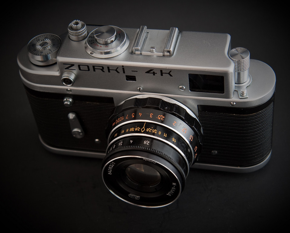 Another product from behind the iron curtain, the Zorki 4k was produced from 1972-1978.  It is a great, fairly modern design with a very large and bright viewfinder.  Originally this camera was sold with an Industar-50 or Jupiter-8 lens, but here it is pictured with an Industar-61 L/D lens.  While the I-61 was not originally sold with this camera, it has a reputation as being one of the best lenses to come out of soviet factories so I wanted to give it a try.