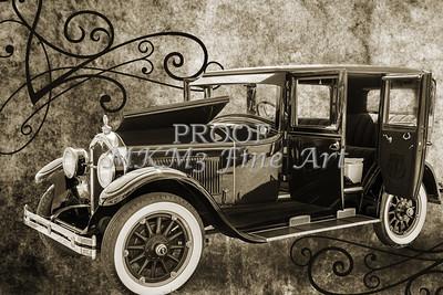 1924 Buick Duchess Old Car Metal Wall Art 105