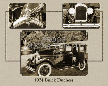1924 Buick Duchess Classic Car Collage 122