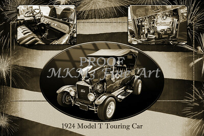 1924 Ford Model T Touring Collage 5509.200