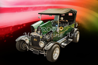 1924 Ford Touring Classic Car Wall Art Pictures