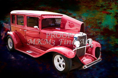 Painting 1929 Chevrolet Classic Car 3132.03