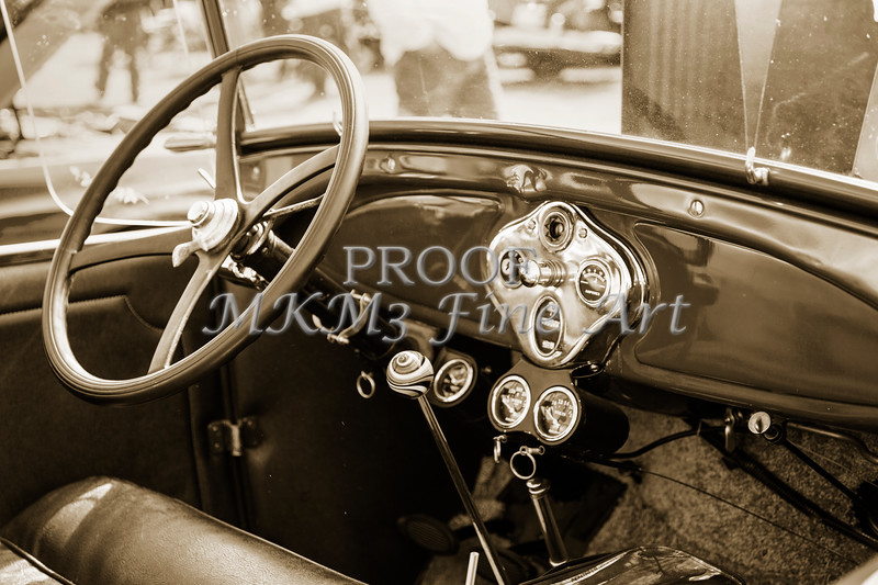 1929 Ford Classic Car Dashboard 3057.01