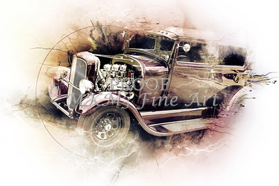 Wall Art Canvas Print 1929 Ford Model A 5511.54