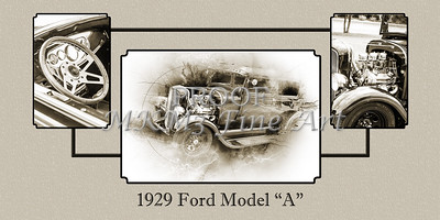 Wall Art Collage 1929 Ford Model A 5511.51