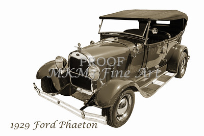 Classic Car Photograqph 1929 Ford Phaeton 3500.01