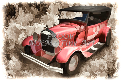 1929 Ford Phaeton Painting Classic Car Print 3498.03