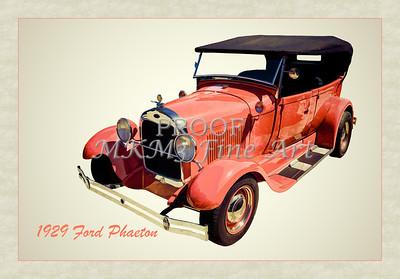 1929 Ford Phaeton Classic Car Art Photographs