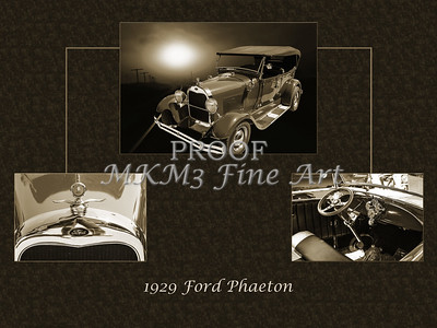 Classic Car Collage 1929 Ford Phaeton 3515.01