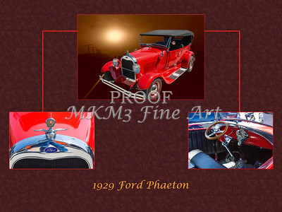 1929 Ford Phaeton Classic Car Collage 3515.02
