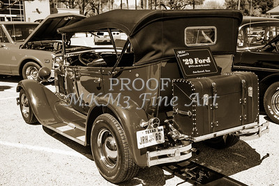 Backside Classic Car 1929 Ford Phaeton 3511.01