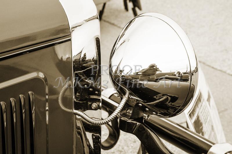 Chrome Headlight 1929 Willys Knight Classic Car4545.01