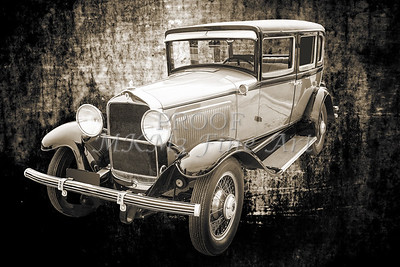 1929 Willys Knight Wall Art Classic Car 4537.01