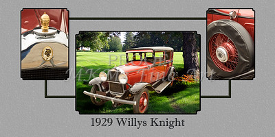 1929 Willys Knight Classic Car Collage 4575.02