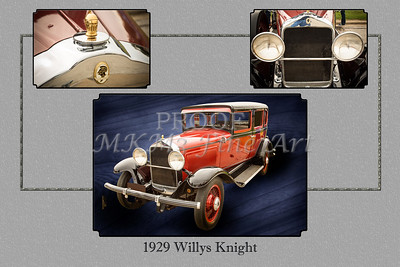 Collage 1929 Willys Knight Classic Car 4574.02