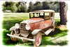 Painting 1929 Willys Knight Wall Art 4571.03